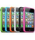 Iphone 5 Silikone bumper / cover, Metal knapper, flere farver