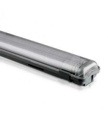 V-Tac 120 cm vandtæt armatur med rør - Inkl. 2 stk. 18W LED rør, IP65, 230V