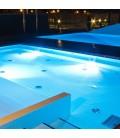 V-Tac vandtæt blå LED pool pære - 12W, glas, IP68, 12V, PAR56