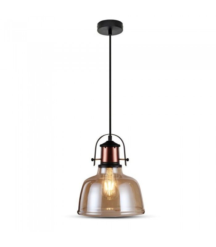 V Tac Glas pendel lampe Gyldent glas, vintage stil