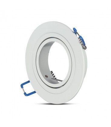 Downlight kit uden lyskilde - Hul: Ø7,5 cm, Mål: Ø9,1 cm, mat hvid, vælg MR16 eller GU10 fatning