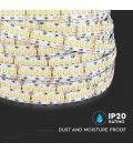V-Tac 18W/m LED strip høj lumen RA 95 - 10m, 24V, IP20, 240 LED pr. meter, Samsung LED chip