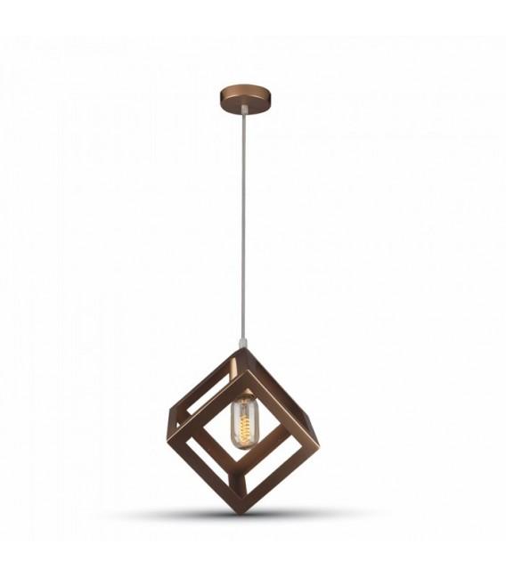 V Tac geometrisk pendel lampe Champagneguld farve, kvadrat, E27