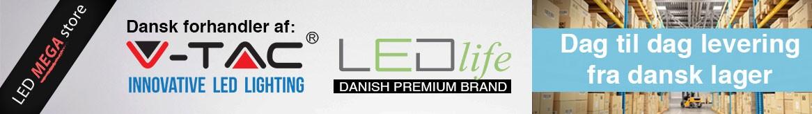 Officiel forhandler af LEDlife og V-Tac