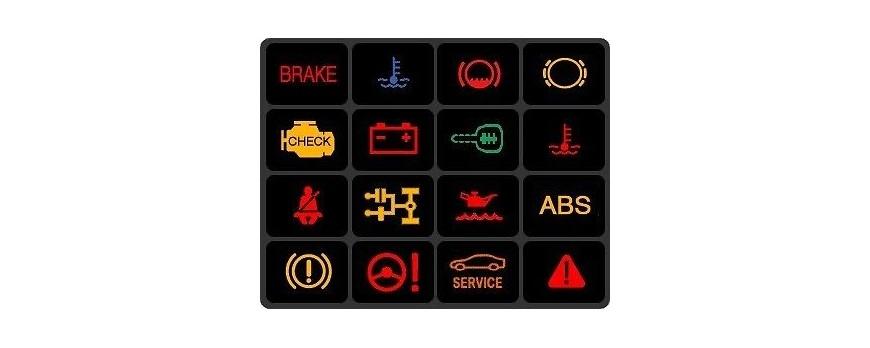Funktion: ABS, Airbag, Service motor m.v.